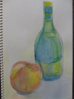 りんごと瓶.JPG